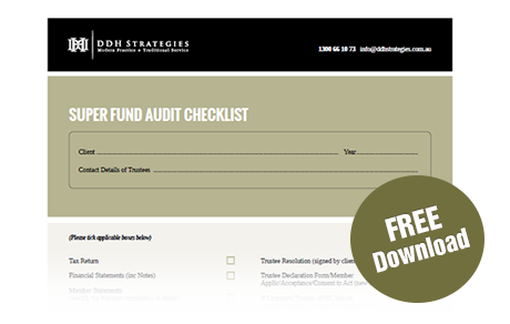 SMSF Audit Checklist